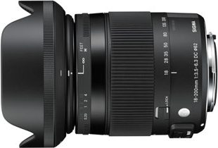 18-200mm F3.5-6.3 DC MACRO OS HSM