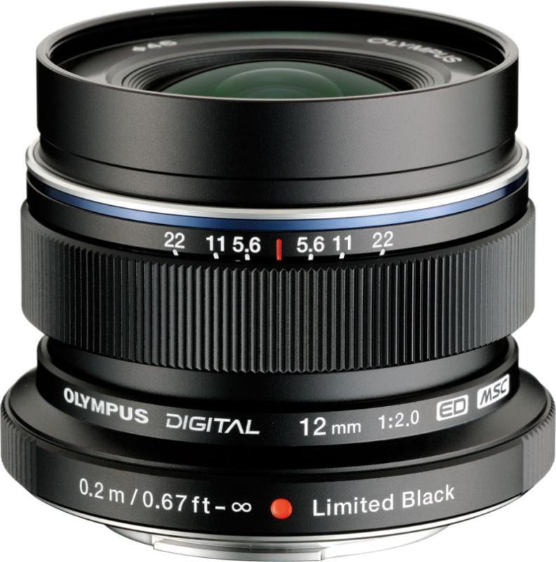 M.ZUIKO DIGITAL ED 12mm F2.0 リミテッドブラックキット