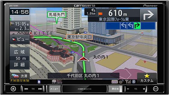 楽ナビ AVIC-RZ901