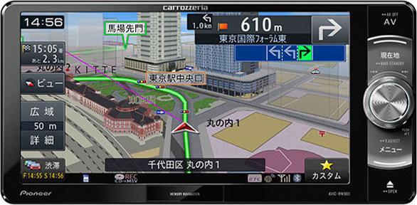 楽ナビ AVIC-RW901