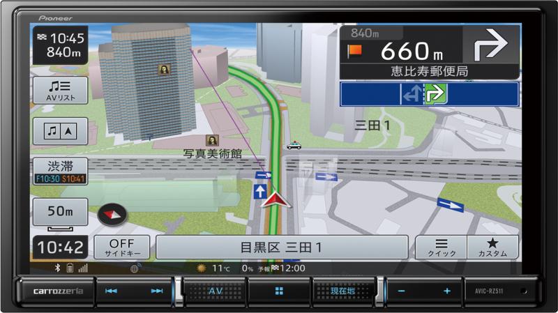 楽ナビ AVIC-RZ511