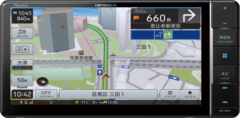 楽ナビ AVIC-RW511