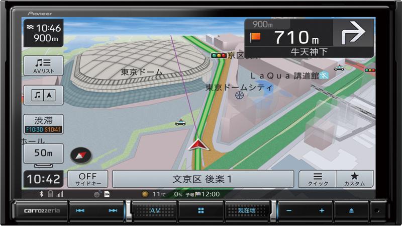 楽ナビ AVIC-RZ711
