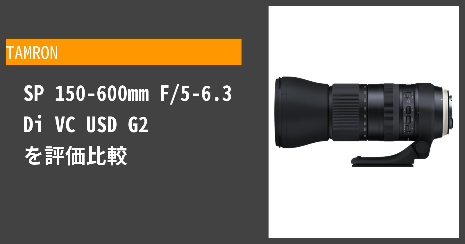 SP 150-600mm F/5-6.3 Di VC USD G2を徹底評価