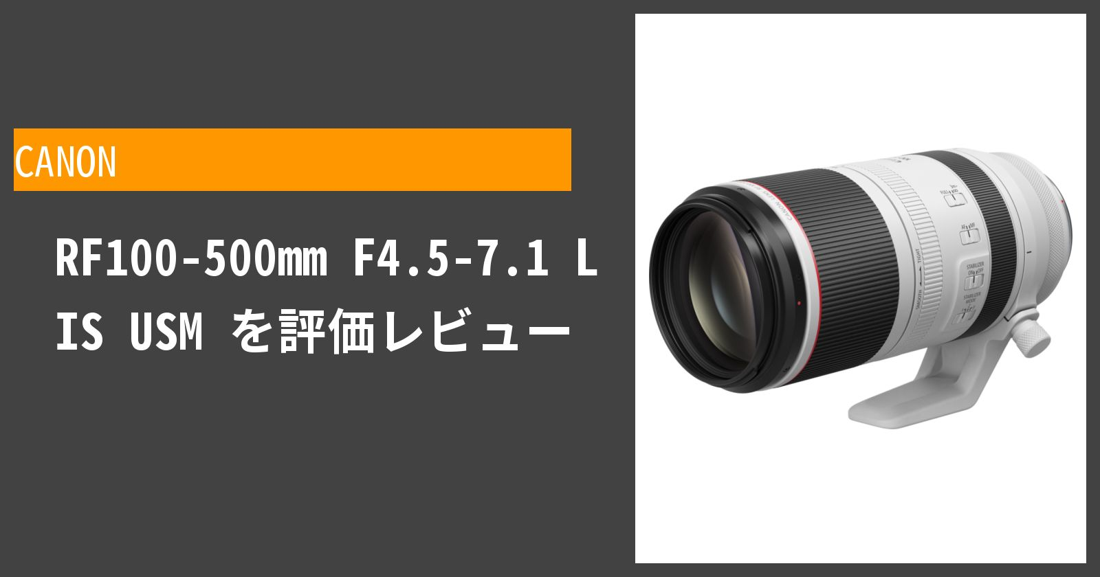 RF100-500mm F4.5-7.1 L IS USMを徹底評価