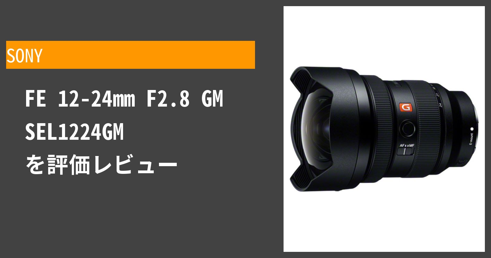 FE 12-24mm F2.8 GM SEL1224GMを徹底評価