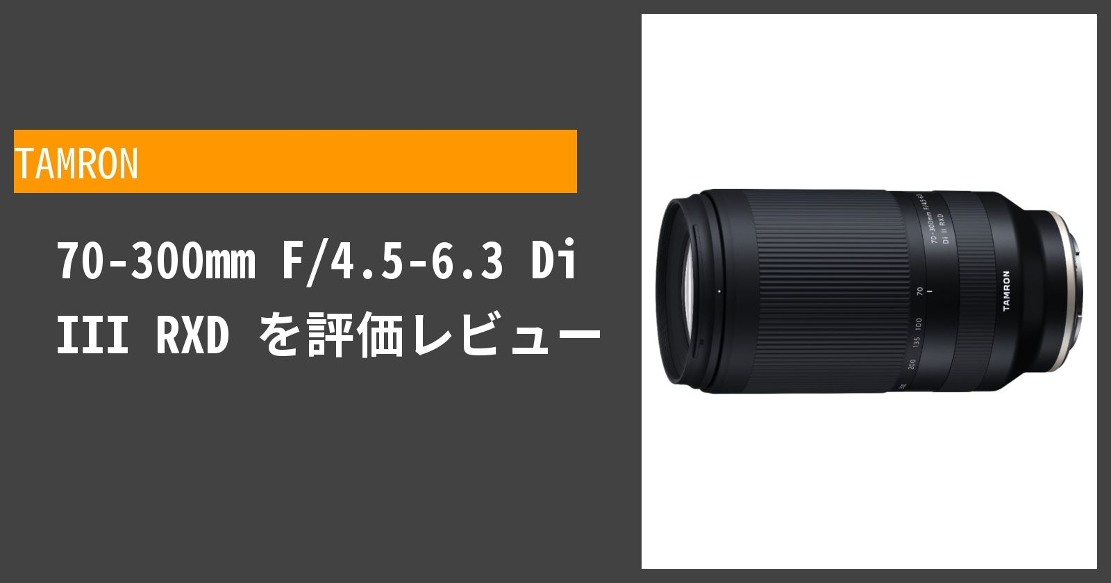 70-300mm F/4.5-6.3 Di III RXDを徹底評価