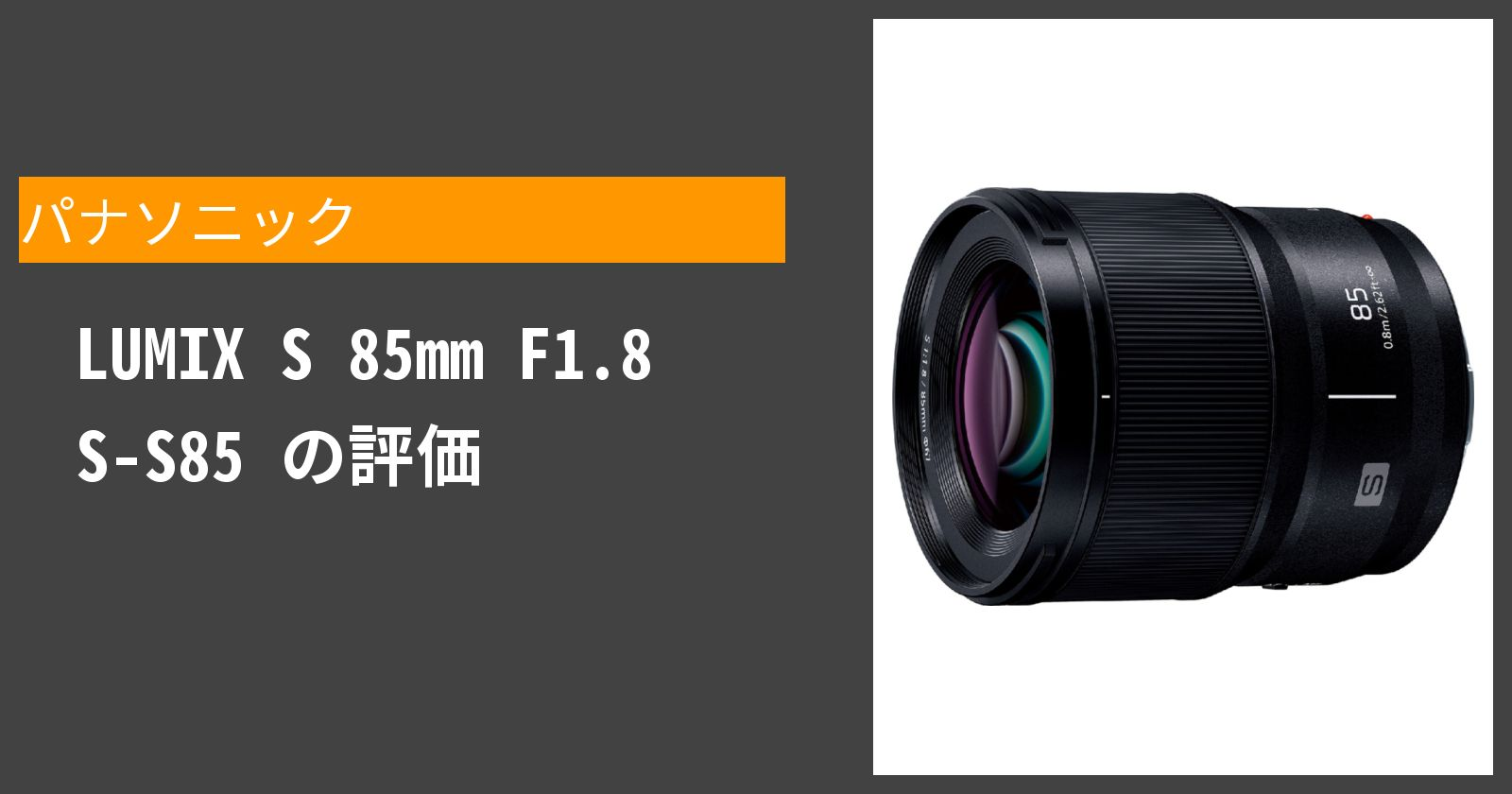 LUMIX S 85mm F1.8 S-S85を徹底評価