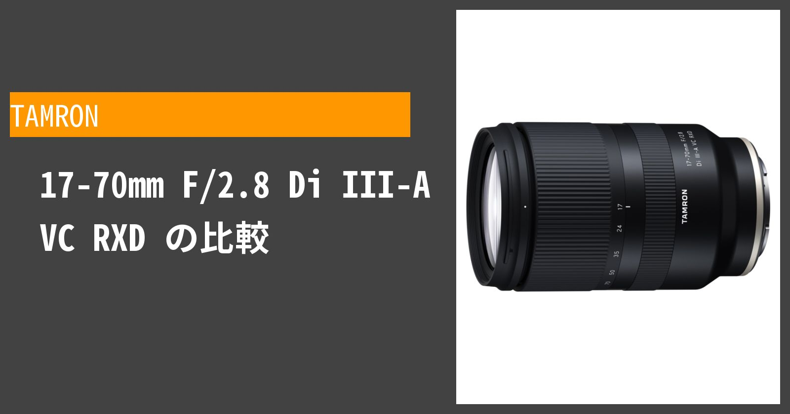 17-70mm F/2.8 Di III-A VC RXDを徹底評価