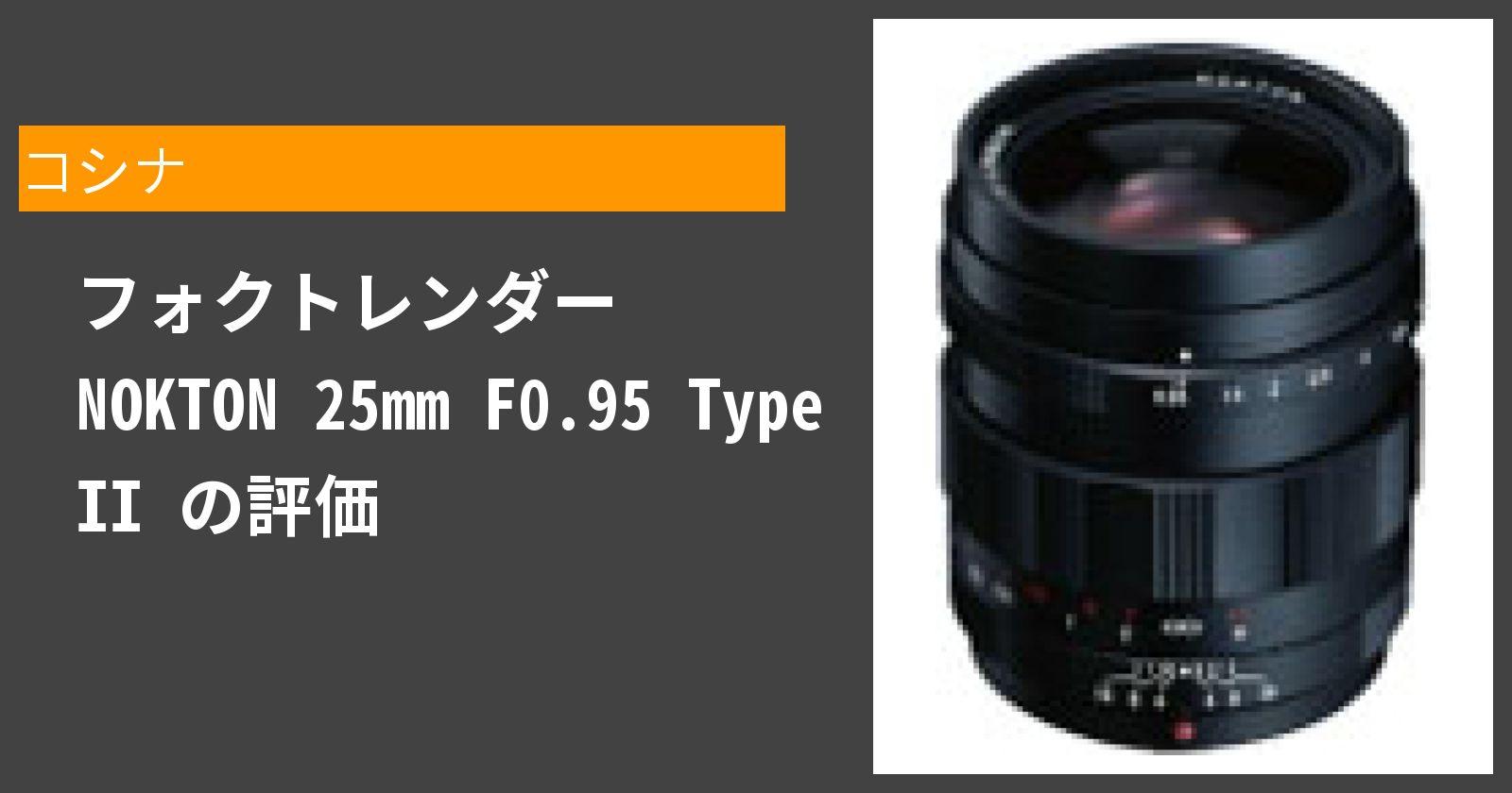 フォクトレンダー NOKTON 25mm F0.95 Type IIを徹底評価