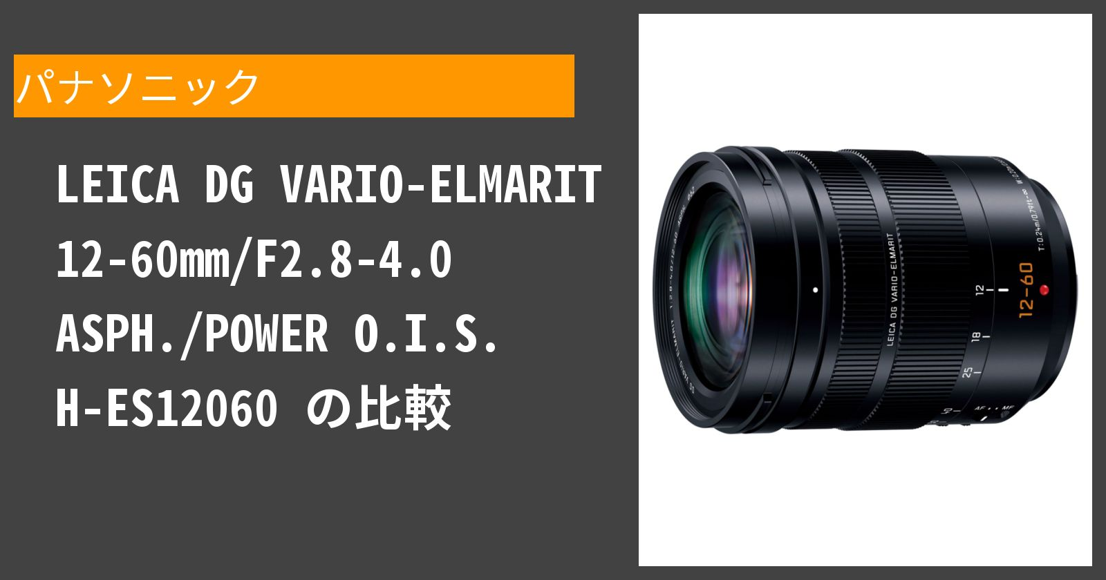 LEICA DG VARIO-ELMARIT 12-60mm/F2.8-4.0 ASPH./POWER O.I.S. H-ES12060を徹底評価