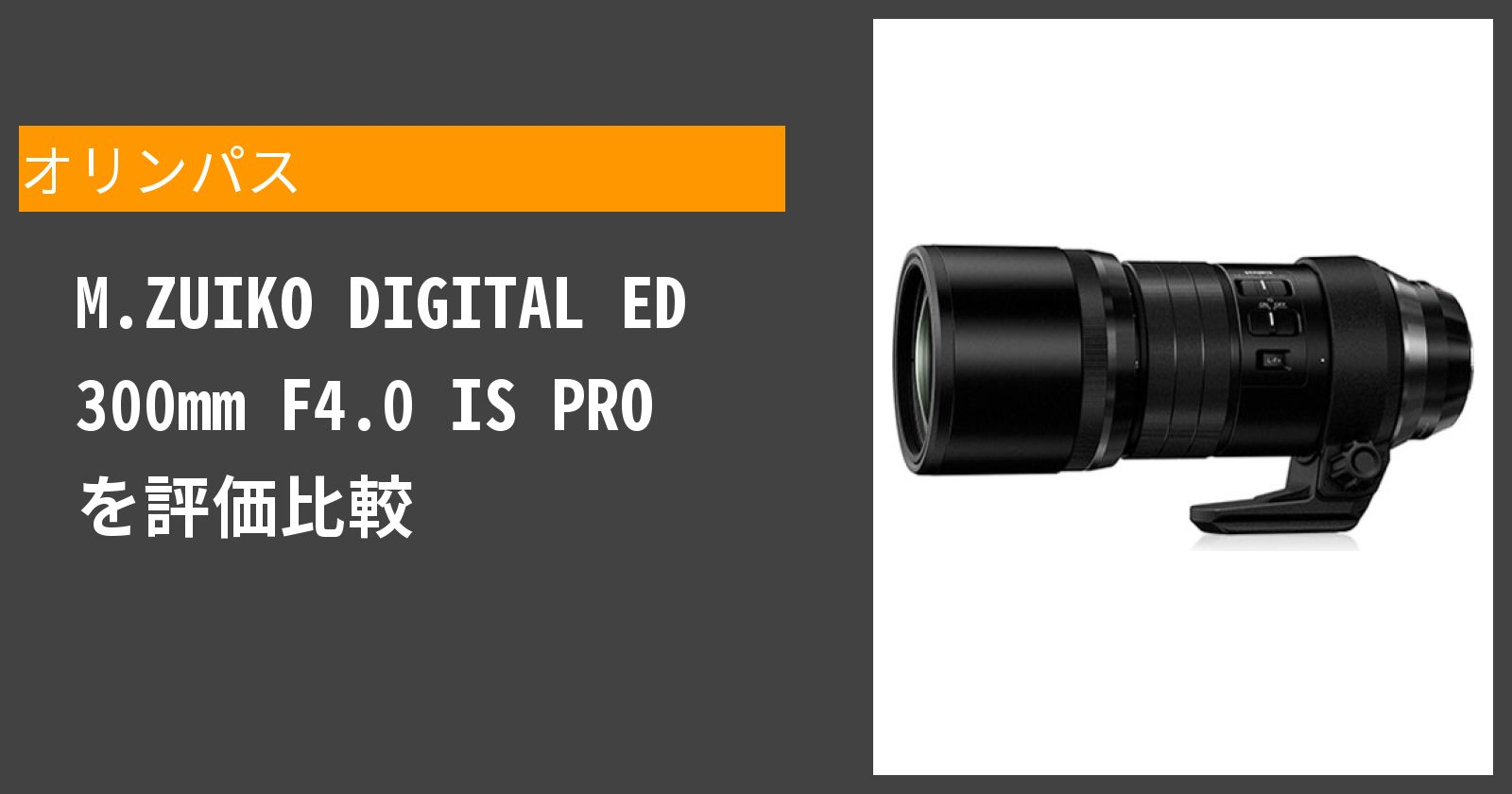 M.ZUIKO DIGITAL ED 300mm F4.0 IS PROを徹底評価
