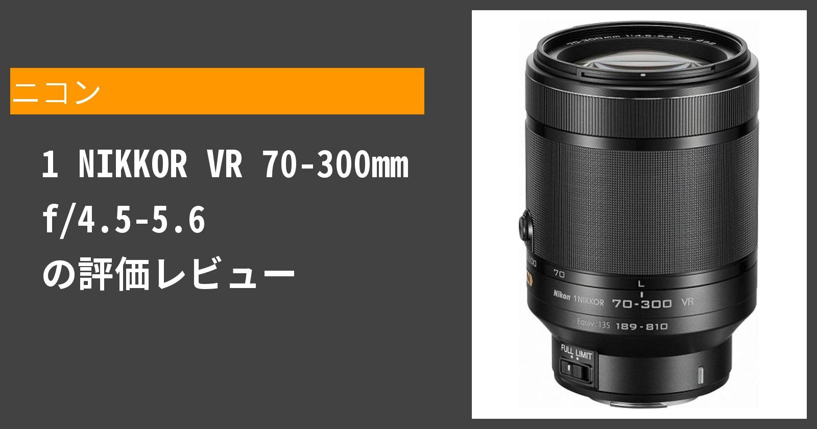 1 NIKKOR VR 70-300mm f/4.5-5.6を徹底評価