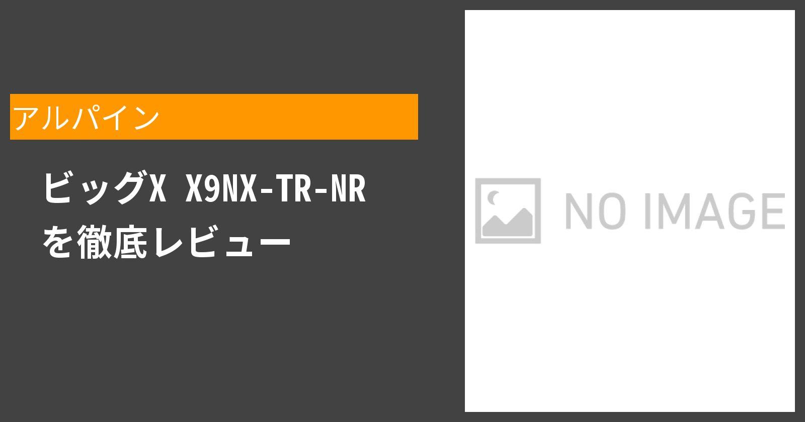ビッグX X9NX-TR-NRを徹底評価