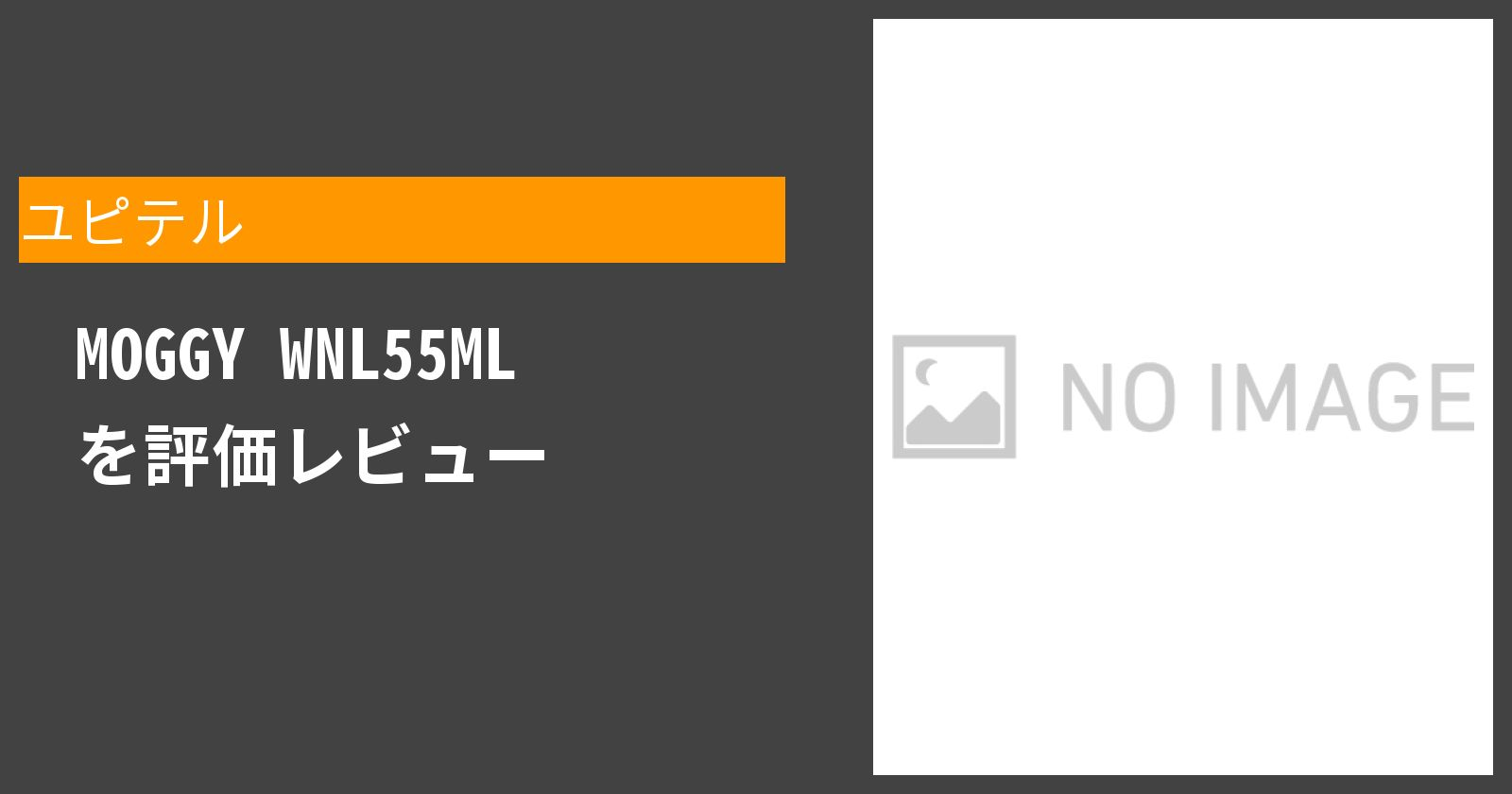 MOGGY WNL55MLを徹底評価