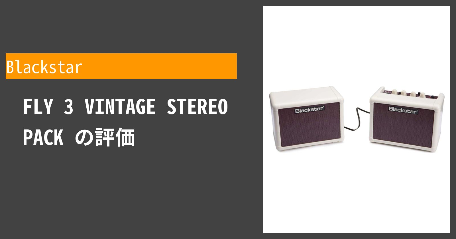 FLY 3 VINTAGE STEREO PACKを徹底評価