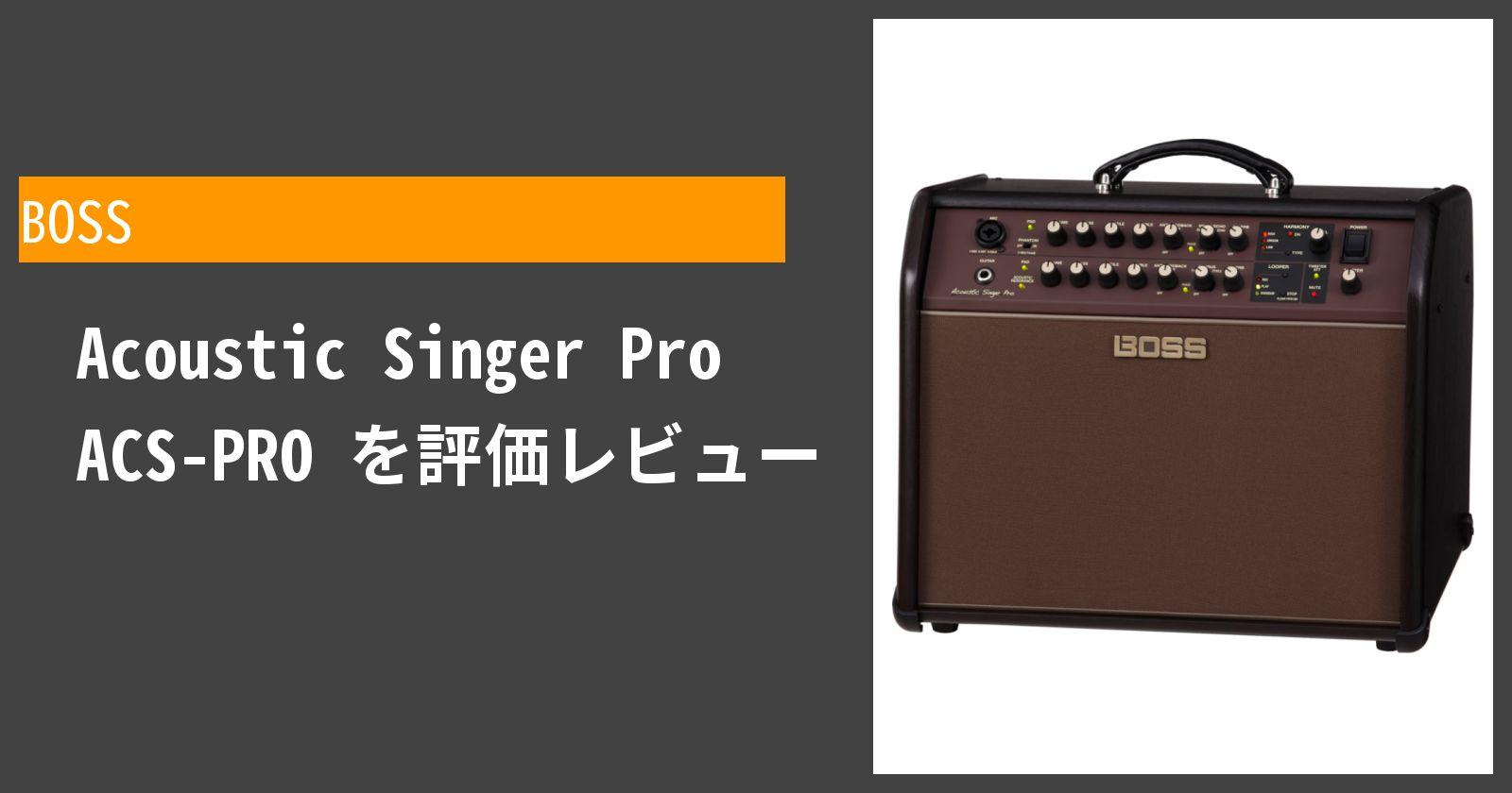 Acoustic Singer Pro ACS-PROを徹底評価
