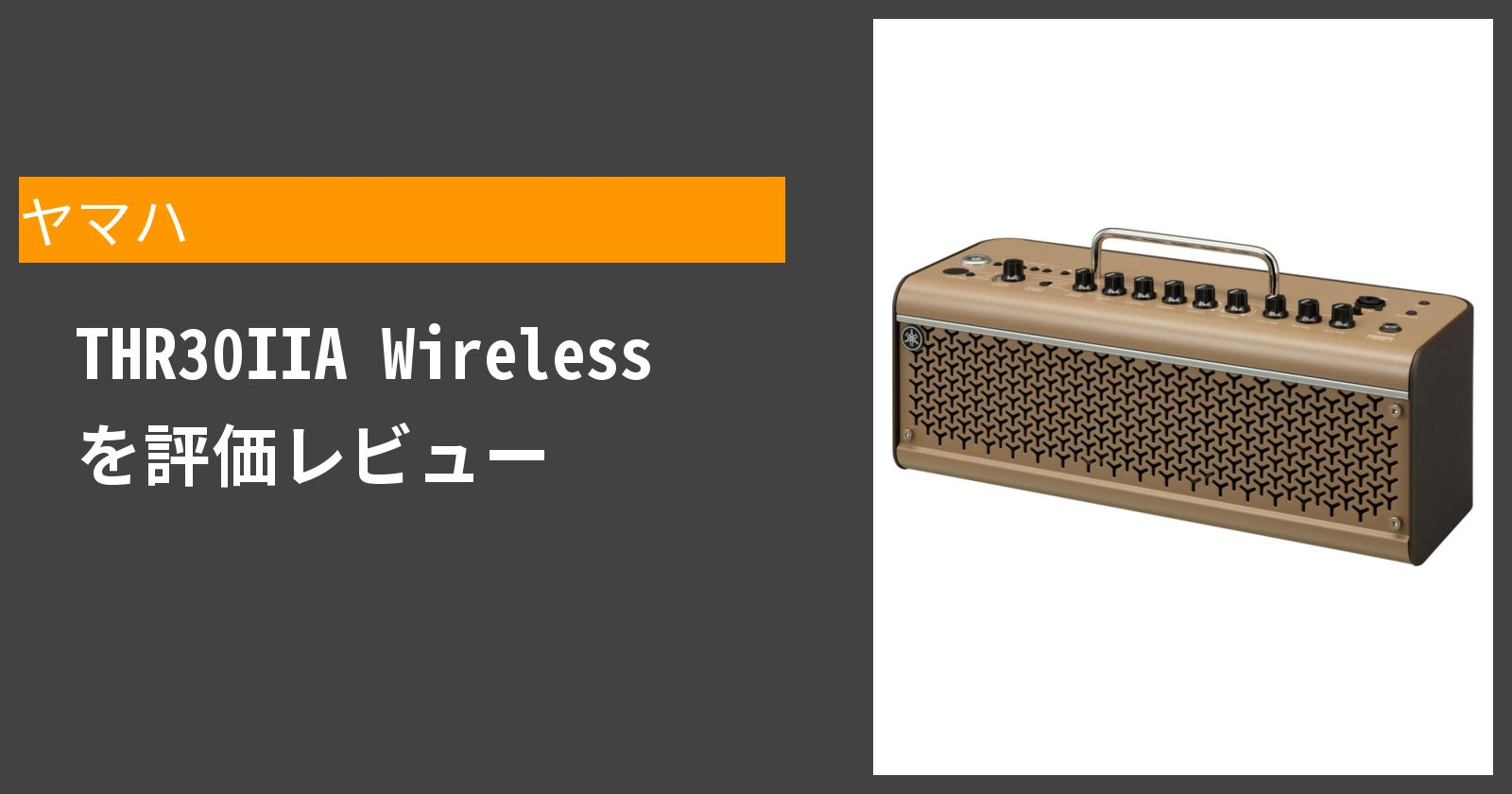 THR30IIA Wirelessを徹底評価