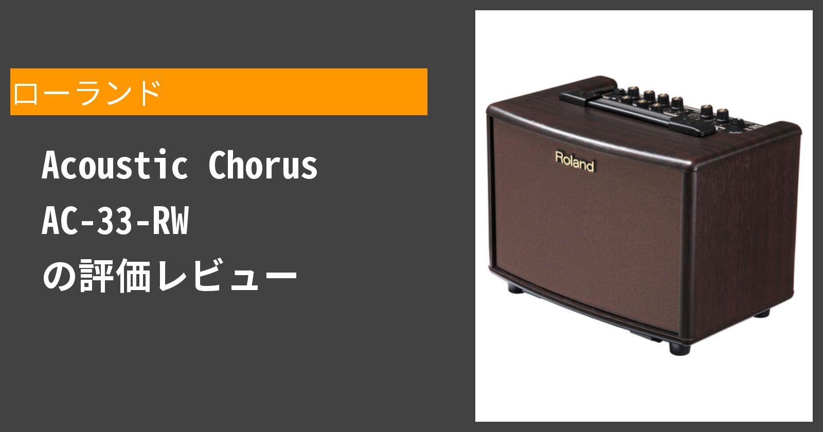 Acoustic Chorus AC-33-RWを徹底評価