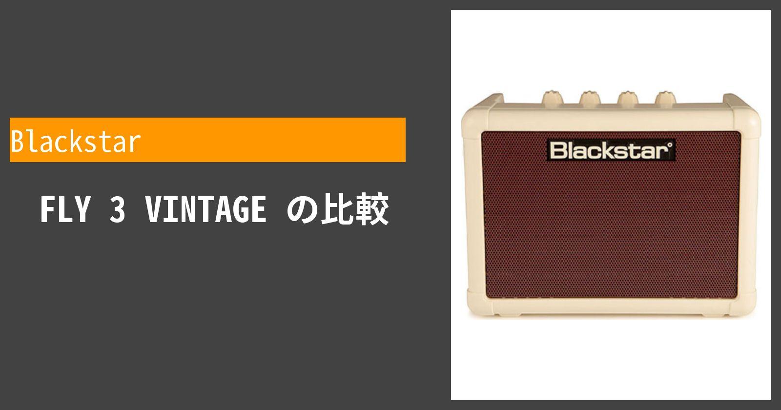 FLY 3 VINTAGEを徹底評価