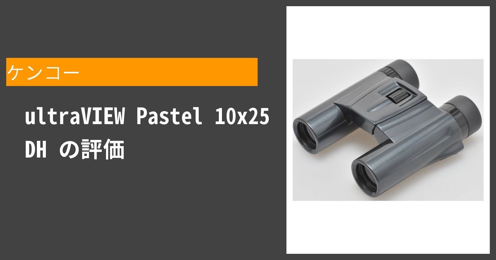 ultraVIEW Pastel 10x25 DHを徹底評価