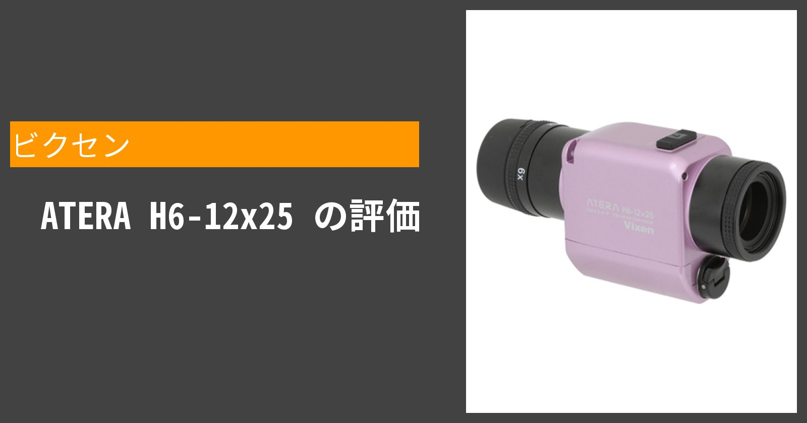 ATERA H6-12x25を徹底評価
