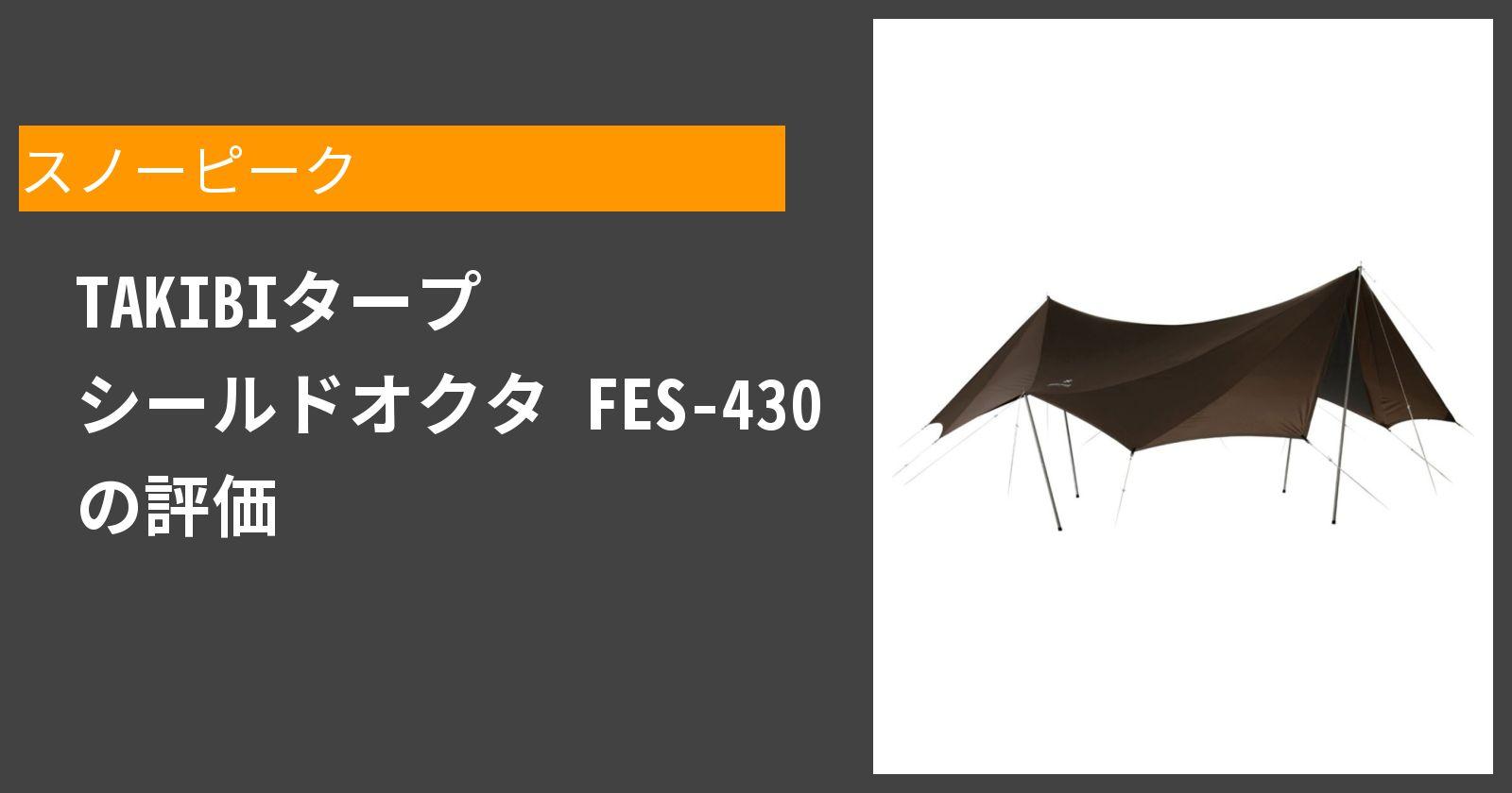 TAKIBIタープ シールドオクタ FES-430を徹底評価