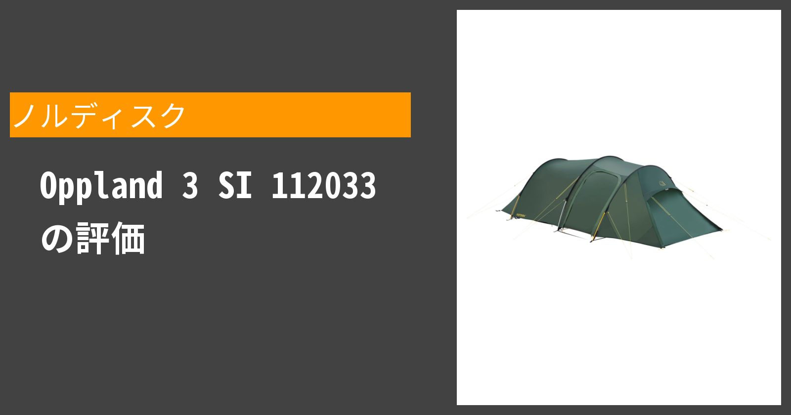 Oppland 3 SI 112033を徹底評価